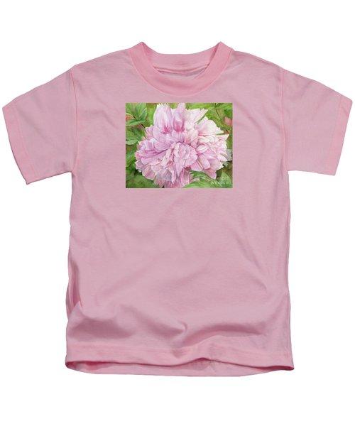 Pink Peony Kids T-Shirt