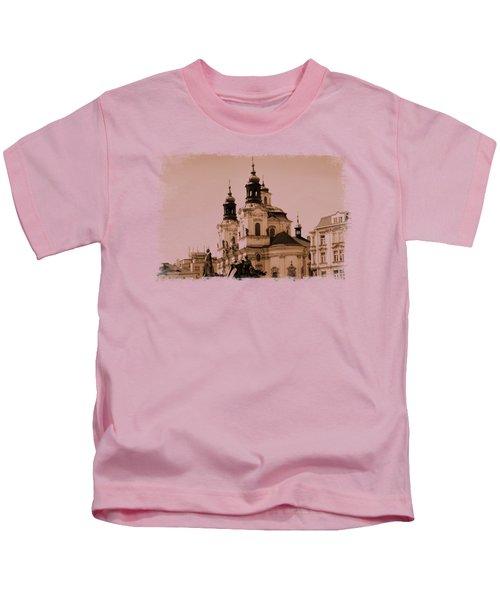 Old Memories Of Prague Kids T-Shirt