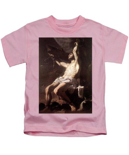 Saint Sebastian By Mattia Preti Kids T-Shirt