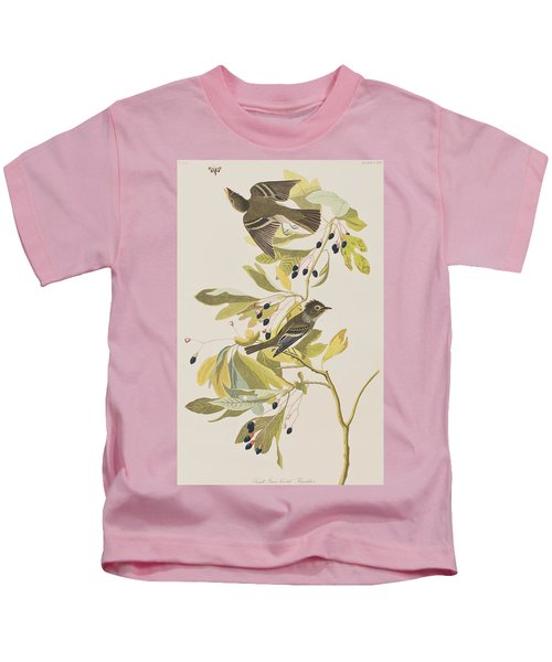 Small Green Crested Flycatcher Kids T-Shirt by John James Audubon