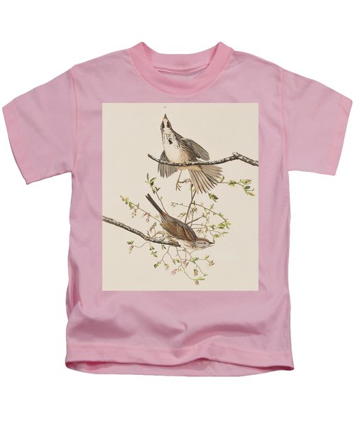 Song Sparrow Kids T-Shirt by John James Audubon
