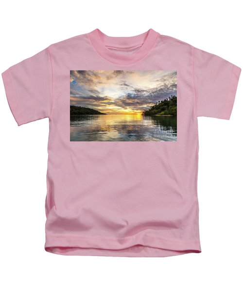 Stunning Sunset In The Togian Islands In Sulawesi Kids T-Shirt