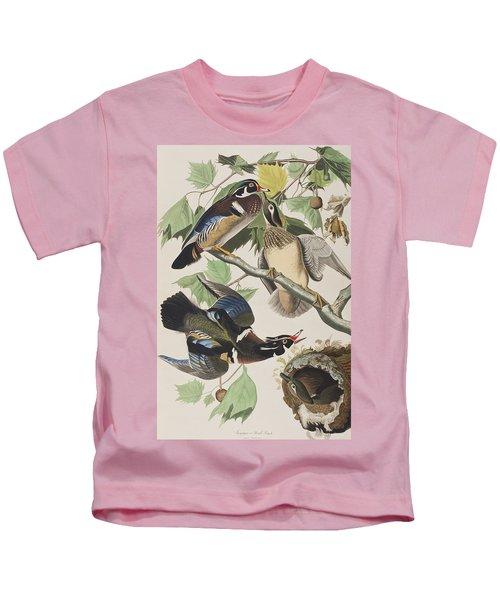 Summer Or Wood Duck Kids T-Shirt