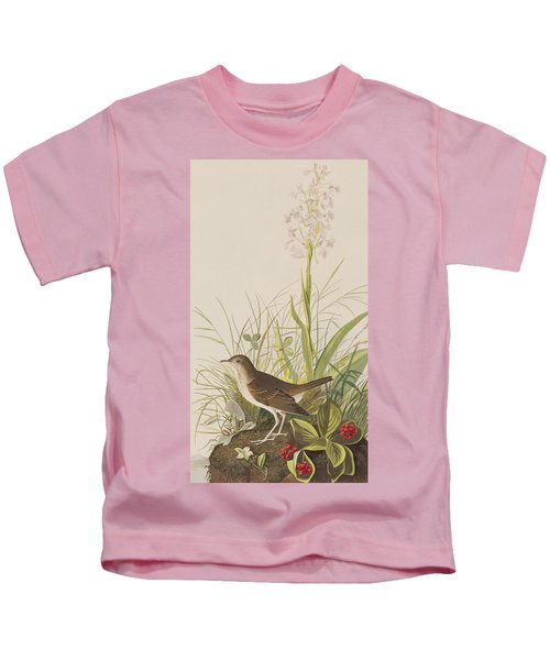 Tawny Thrush  Kids T-Shirt