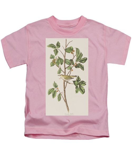 Tennessee Warbler Kids T-Shirt by John James Audubon