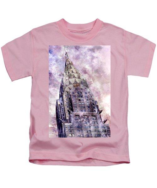 The Chrysler Building Kids T-Shirt by Jon Neidert