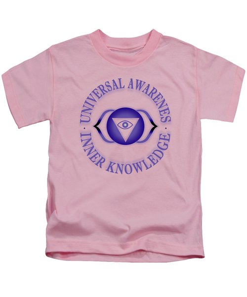 Third Eye Chakra Kids T-Shirt