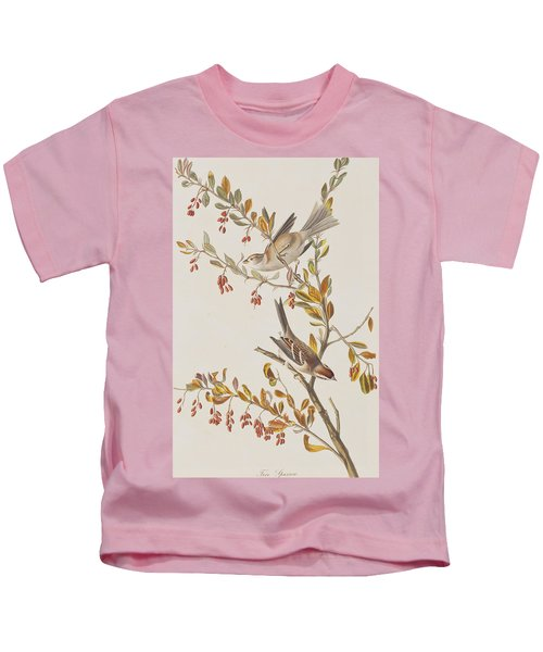 Tree Sparrow Kids T-Shirt by John James Audubon