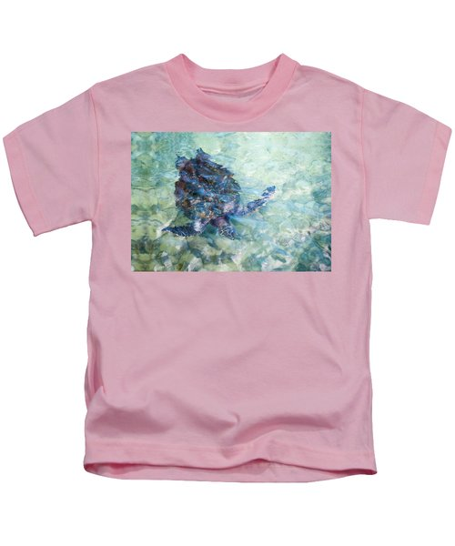 Watercolor Turtle Kids T-Shirt