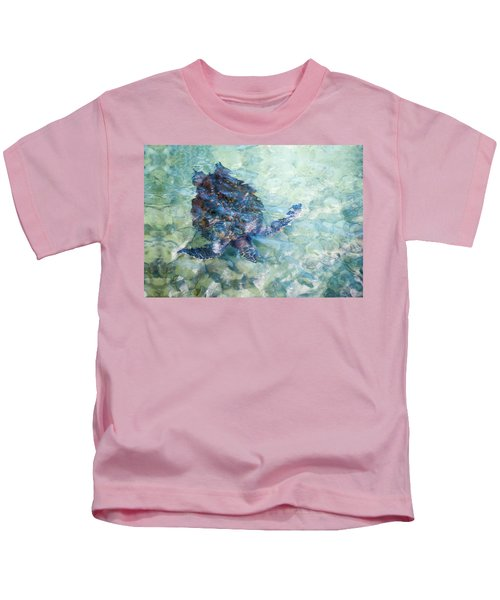 Watercolor Turtle Kids T-Shirt
