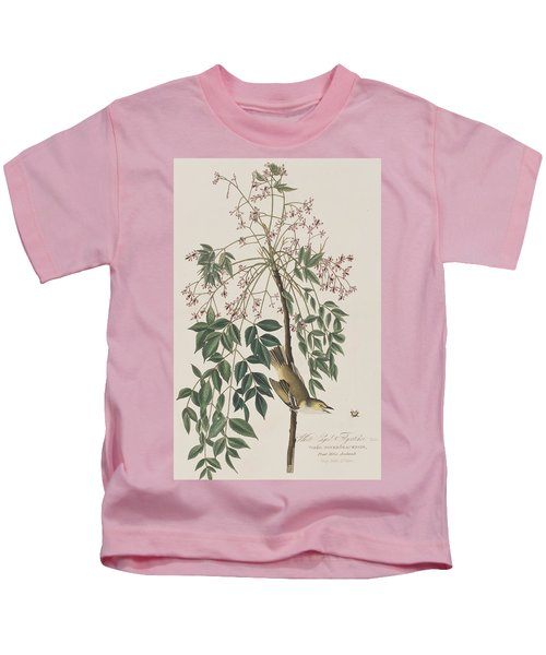 White-eyed Flycatcher Kids T-Shirt by John James Audubon