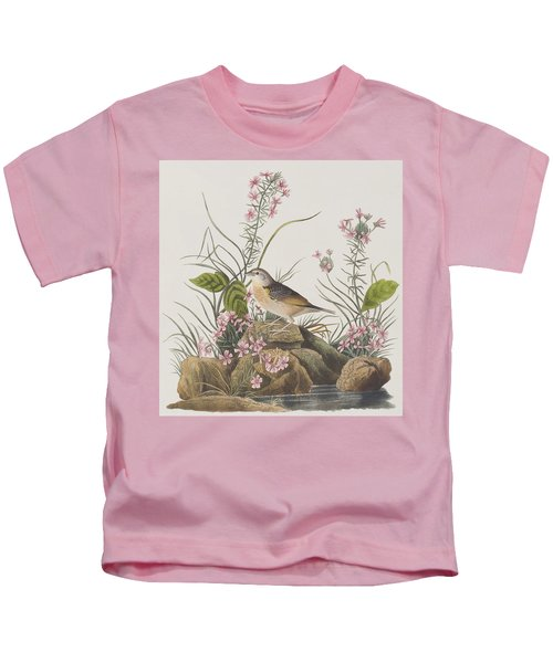 Yellow-winged Sparrow Kids T-Shirt by John James Audubon