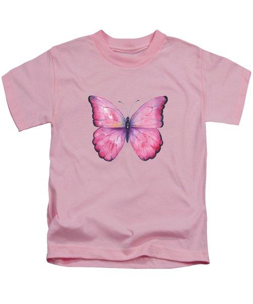 105 Pink Celestina Butterfly Kids T-Shirt