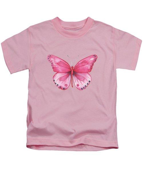 107 Pink Genus Butterfly Kids T-Shirt