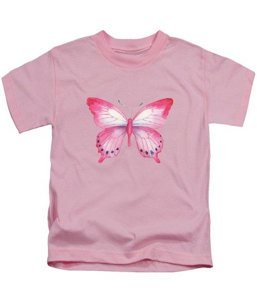 108 Pink Laglaizei Butterfly Kids T-Shirt