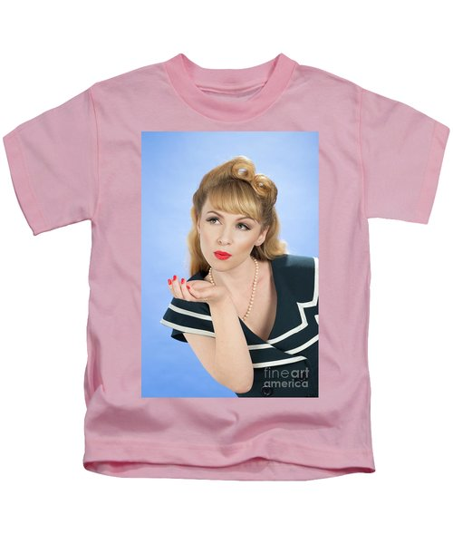 Pin Up Girl Kids T-Shirt