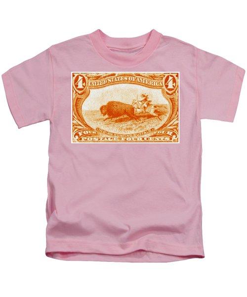1898 Indian Hunting Buffalo Kids T-Shirt