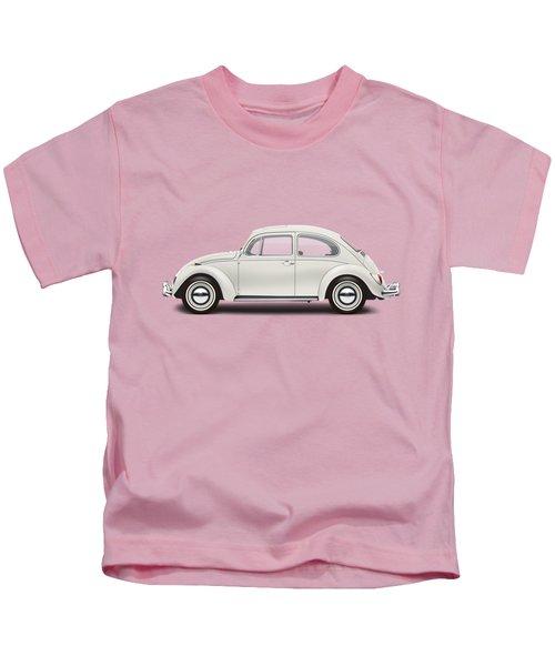 1966 Volkswagen 1300 Sedan - Pearl White Kids T-Shirt by Ed Jackson
