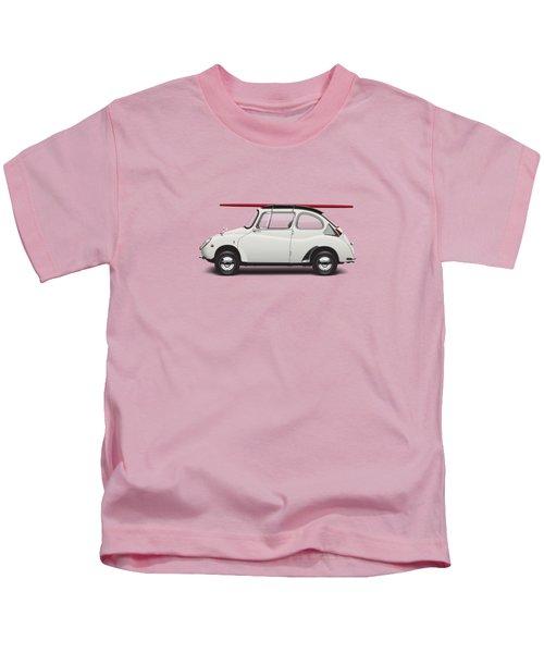 1969 Subaru 360 Young Ss - Creme Kids T-Shirt