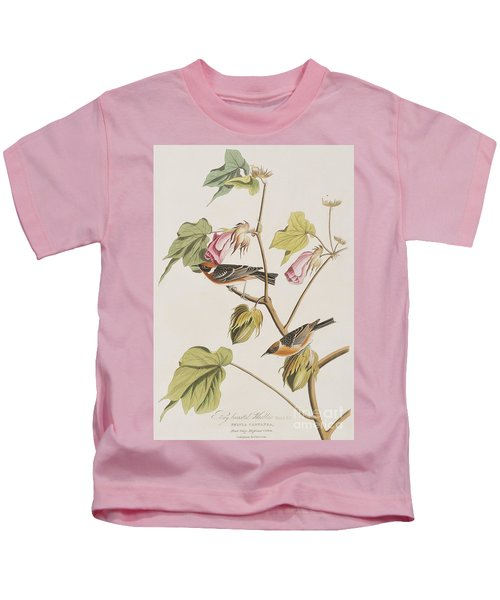 Bay Breasted Warbler Kids T-Shirt by John James Audubon