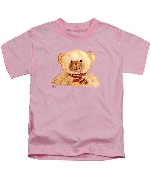 Cuddly Bear Kids T-Shirt by Angeles M Pomata