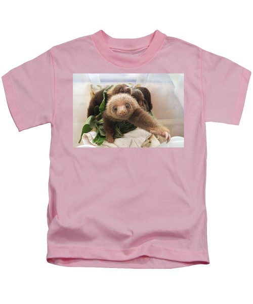 Hoffmanns Two-toed Sloth Choloepus Kids T-Shirt