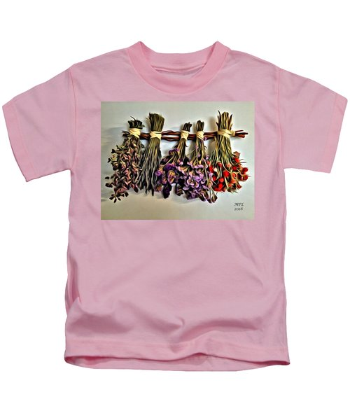 Kids T-Shirt featuring the painting Memories by Marian Palucci-Lonzetta