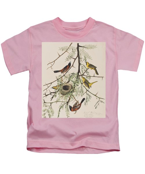 Orchard Oriole Kids T-Shirt by John James Audubon