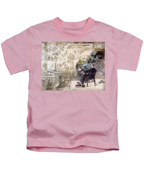 Charles Dickens 1812-1870.  To License For Professional Use Visit Granger.com Kids T-Shirt