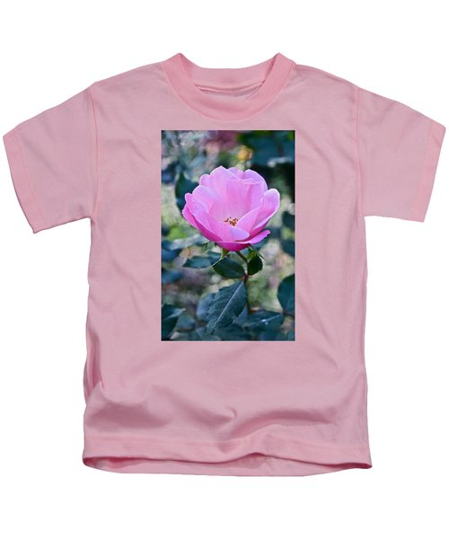 2015 After The Frost At The Garden Pink  Rose Kids T-Shirt