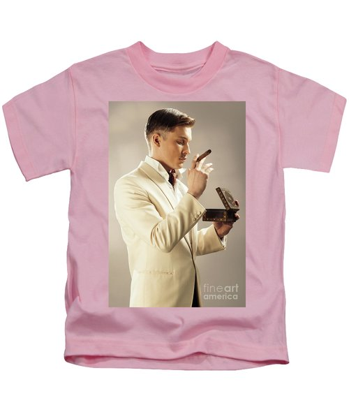 Model Playing Errol Flynn Character Kids T-Shirt