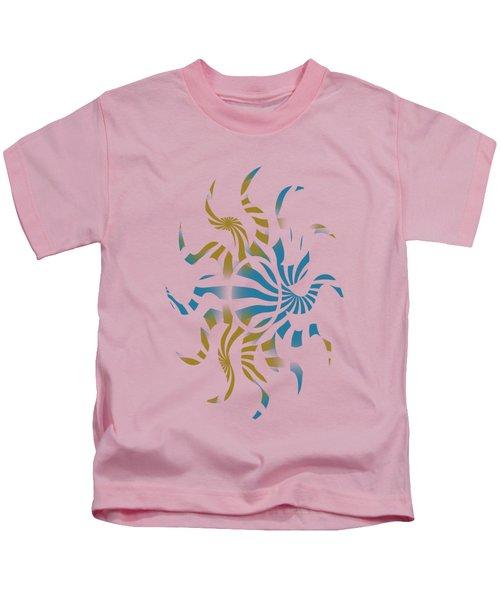3d Spiral Pattern Kids T-Shirt