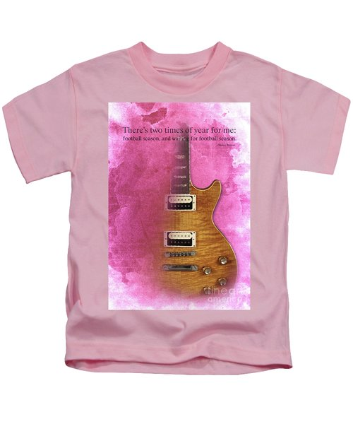 Darius Rucker Inspirational Quote, Electric Guitar Poster For Music Lovers And Musicians Kids T-Shirt