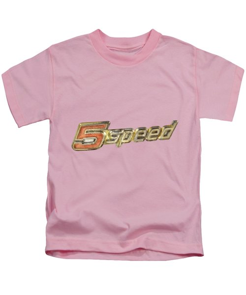 5 Speed Chrome Emblem Kids T-Shirt
