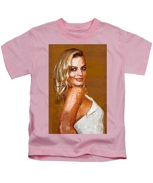 Margot Robbie Art Kids T-Shirt