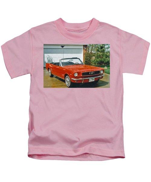 66 Mustang Convertable Kids T-Shirt