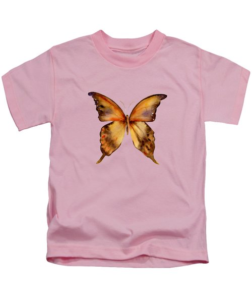 7 Yellow Gorgon Butterfly Kids T-Shirt by Amy Kirkpatrick