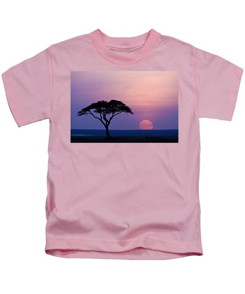 African Sunrise Kids T-Shirt