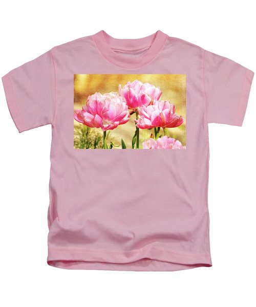 A Bouquet Of Tulips Kids T-Shirt