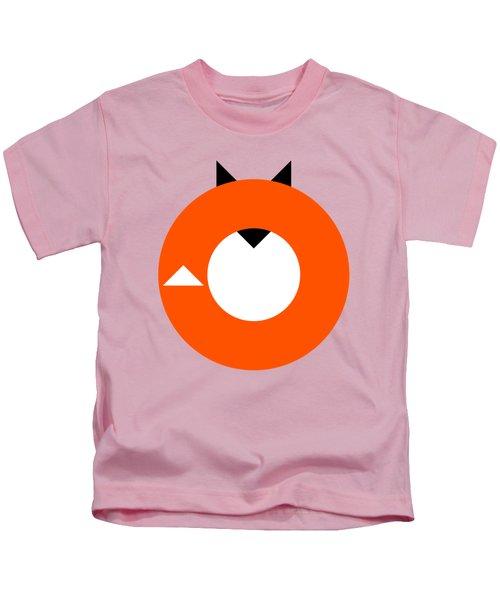 A Most Minimalist Fox Kids T-Shirt