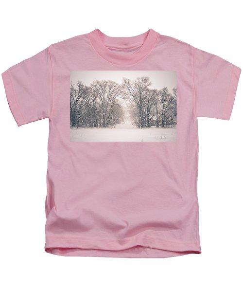A Snowy Monday Kids T-Shirt