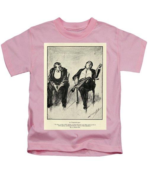A Voluptuary By L. Raven Hill 1867 To Kids T-Shirt