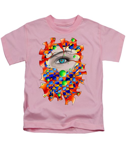 Abstract Digital Art - Delaneo V3 Kids T-Shirt
