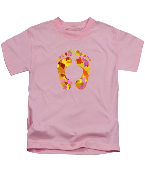 Abstract Footprints Kids T-Shirt