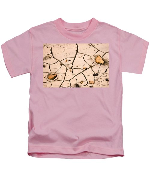 Abstract Mud Flat Pink Saturated Kids T-Shirt