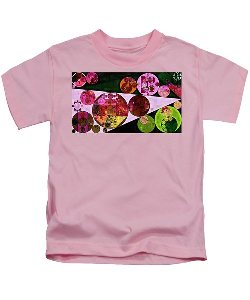 Abstract Painting - Pink Pearl Kids T-Shirt