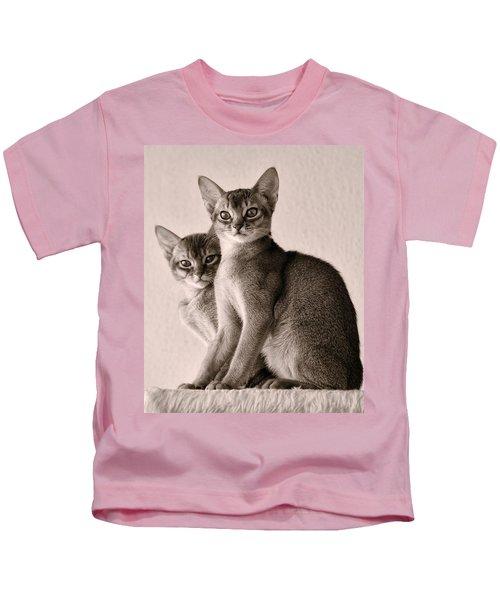 Abyssinian Kittens Kids T-Shirt