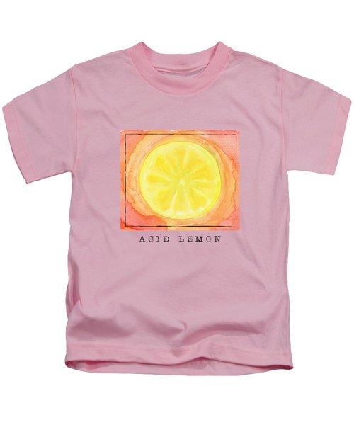Acid Lemon Kids T-Shirt by Kathleen Wong