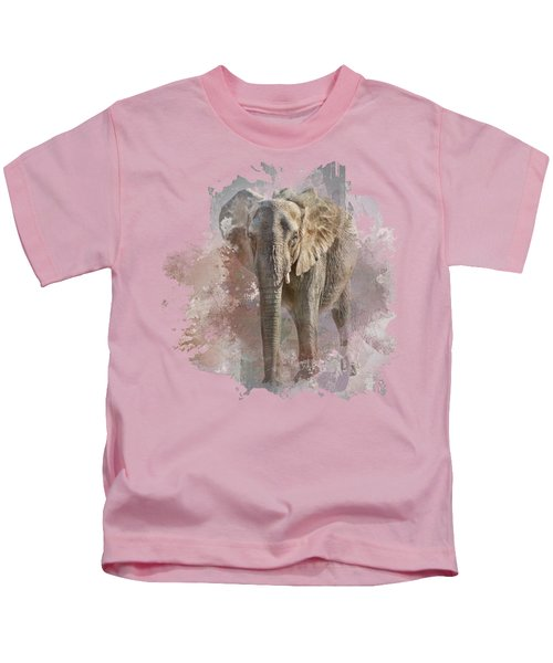 African Elephant - Transparent Kids T-Shirt