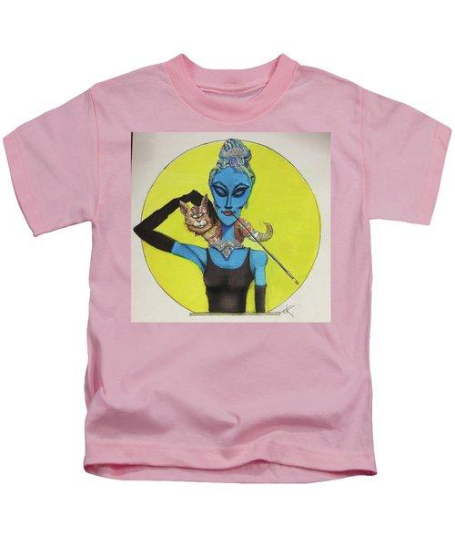 Alien At Tiffany's Kids T-Shirt